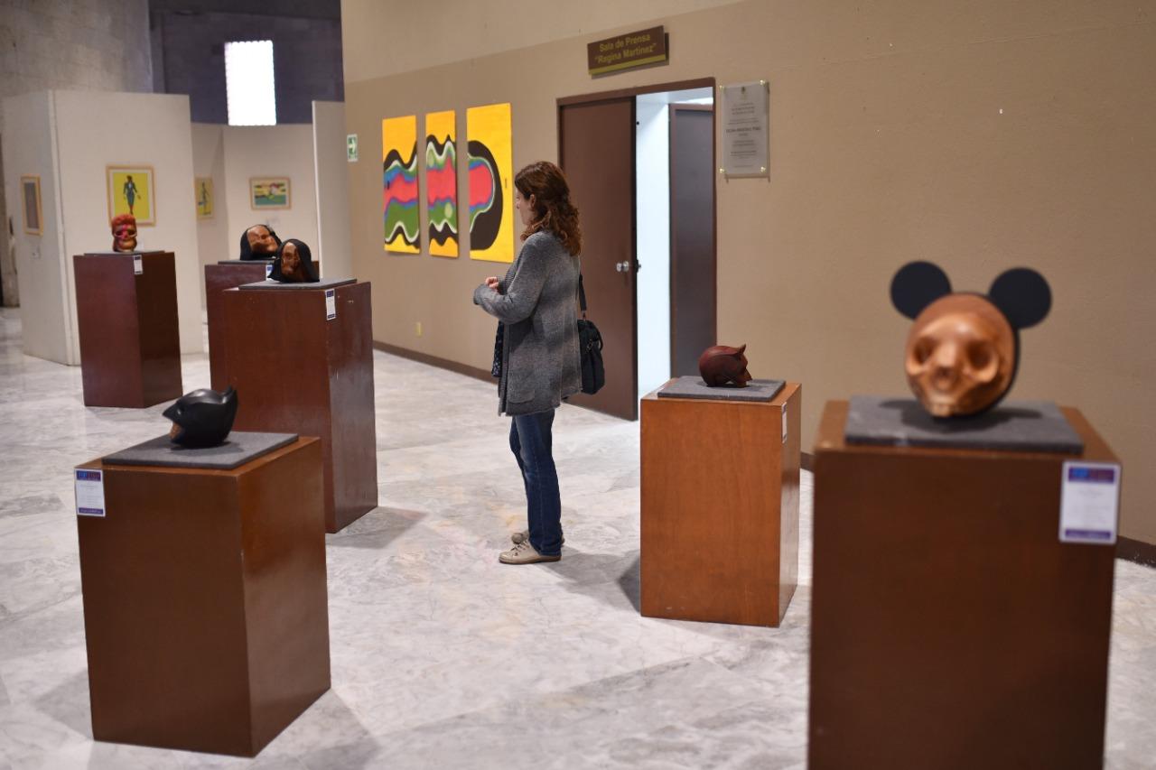 """Continúa exposición escultórica """"Pop-Tlán espíritu del tiempo"""" de Farfán Acosta"""