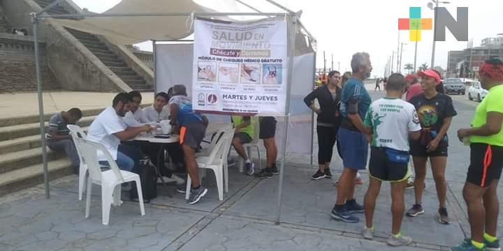 Continúa programa «Salud en Movimiento» Coatzacoalcos