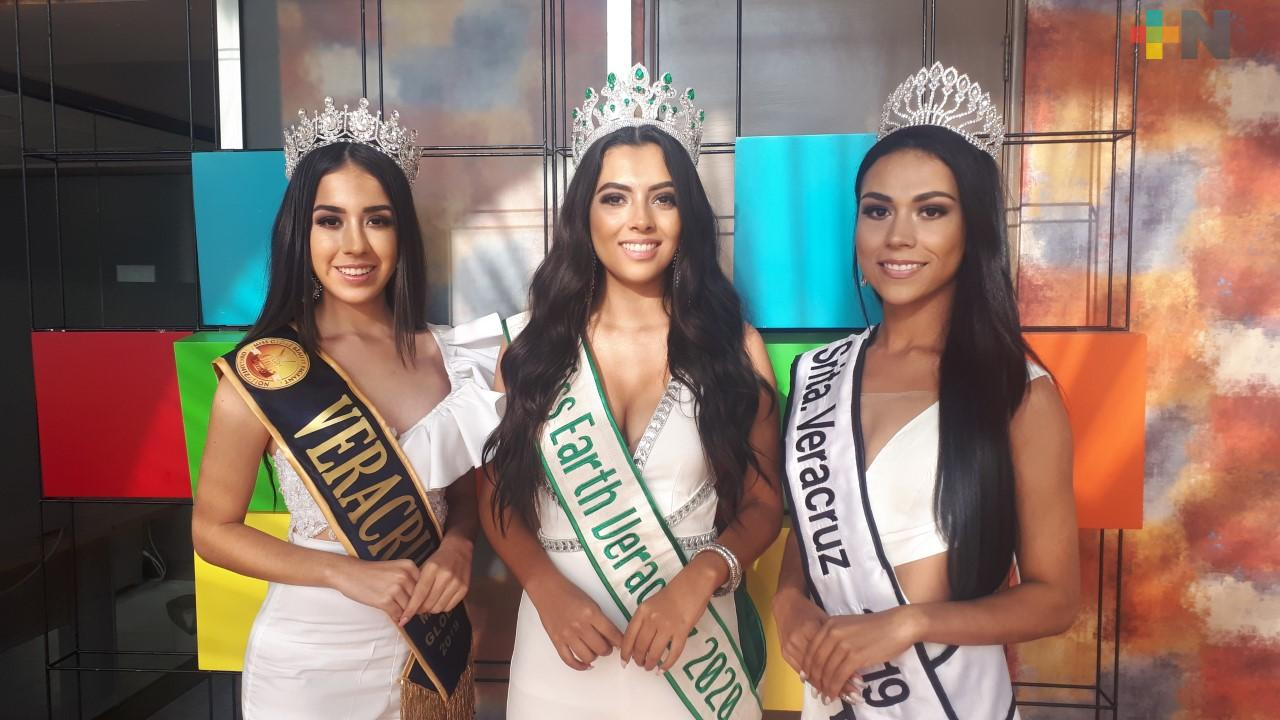 Tres veracruzanas representarán al estado en importantes certámenes de belleza a nivel nacional