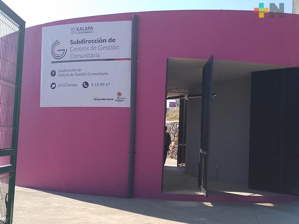Alcalde de Xalapa inaugura Centro de Gestión Comunitaria de Las Minas