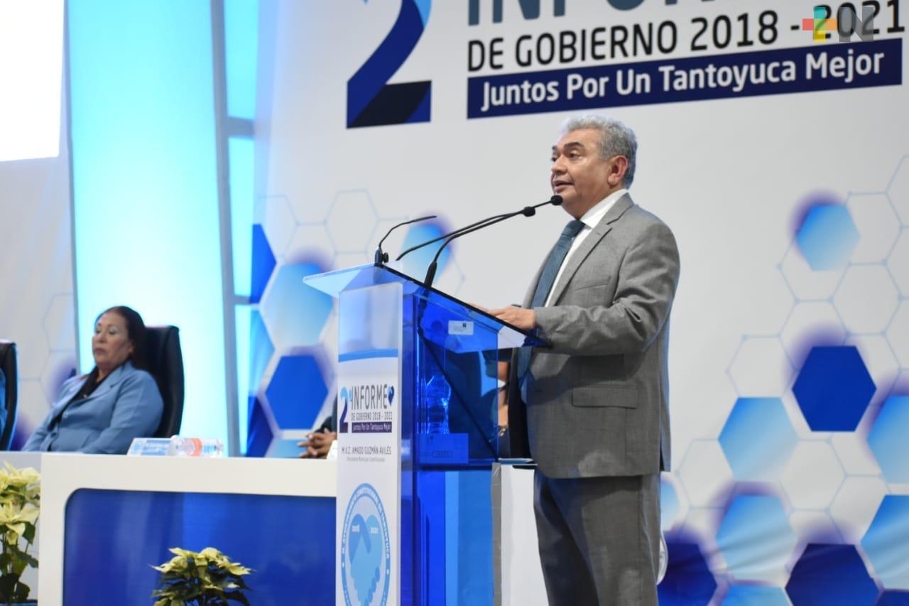 Amado Guzmán destaca inversión para Tantoyuca