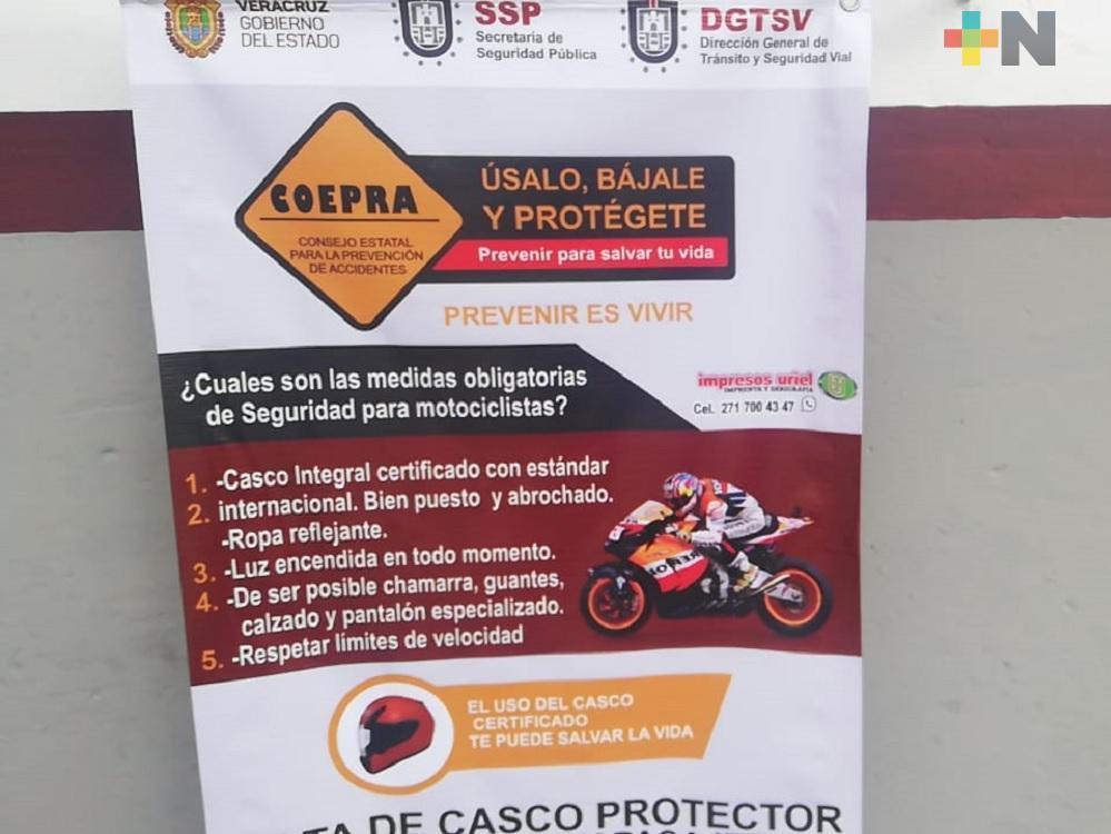 Disminuyen accidentes de motociclistas en carretera Amatlán-Atoyac-Paso del Macho, con operativo Cero Tolerancia