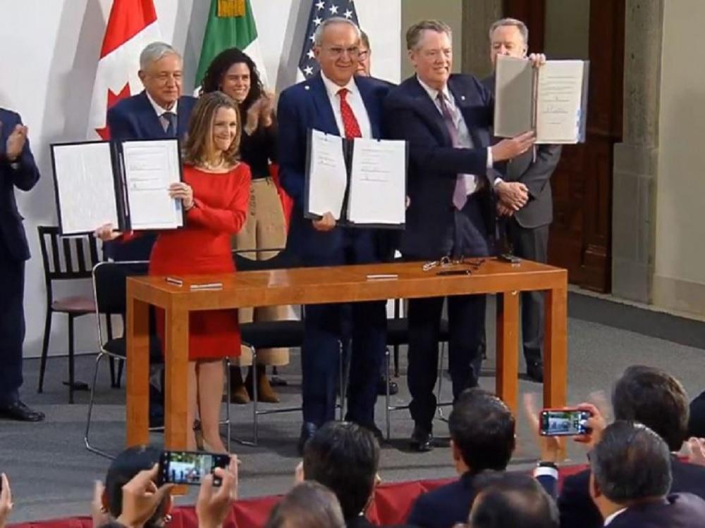 Firman México, EUA y Canadá cambios al T-MEC