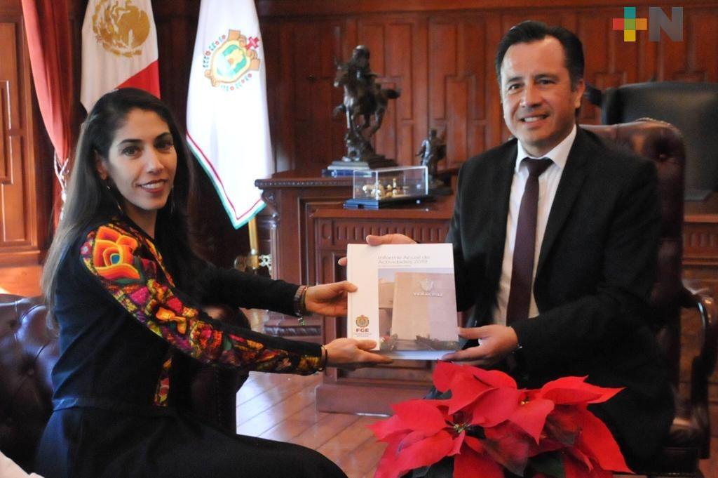 Verónica Hernández entrega Informe Anual de Actividades 2019 de la Fiscalía General del Estado