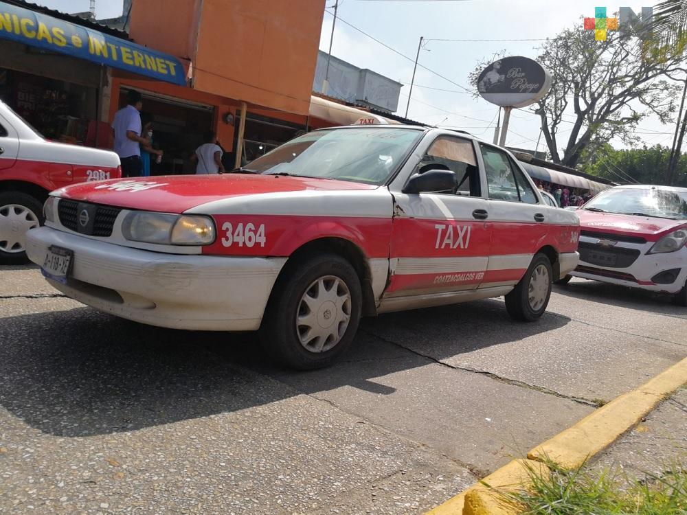Taxistas de Coatzacoalcos piden modificar y ajustar tarifa y perímetros del servicio