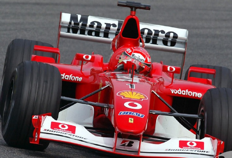 Venden el Ferrari F2002 que condujo Michael Schumacher en 6.6 mdd