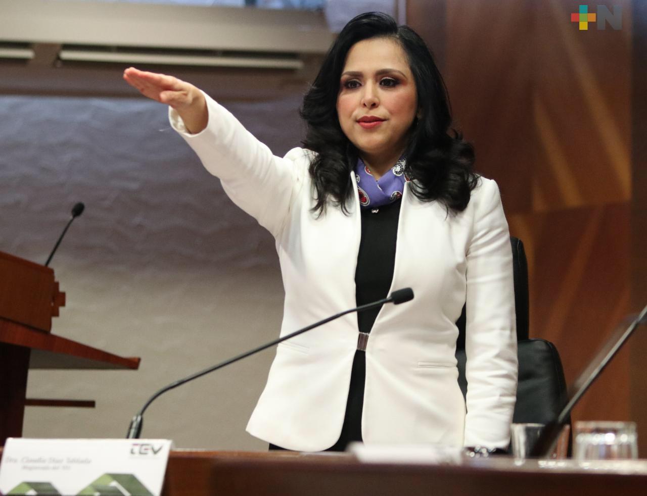 Designan a Claudia Díaz Tablada presidenta del Tribunal Electoral de Veracruz