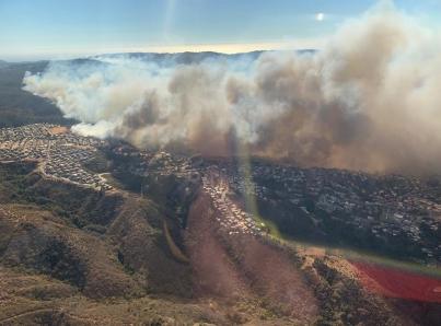 Suman 245 residencias destruidas por incendio en Chile