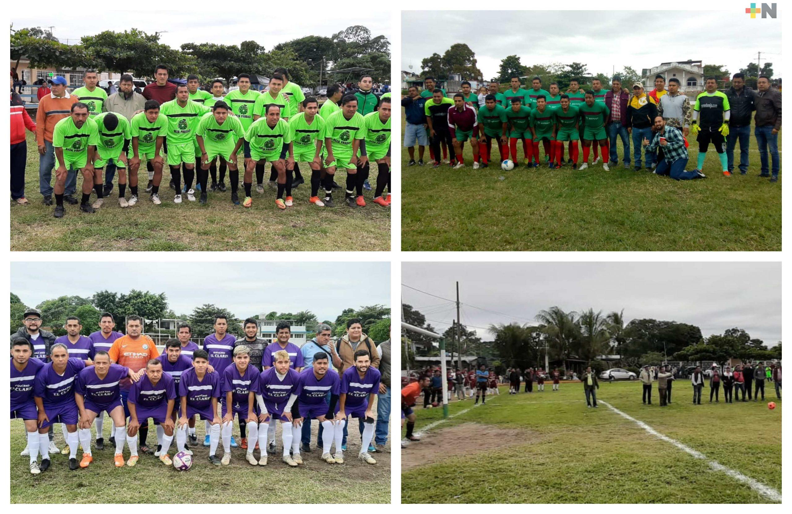 Despiden el año con partidos de fútbol en Martínez de la Torre