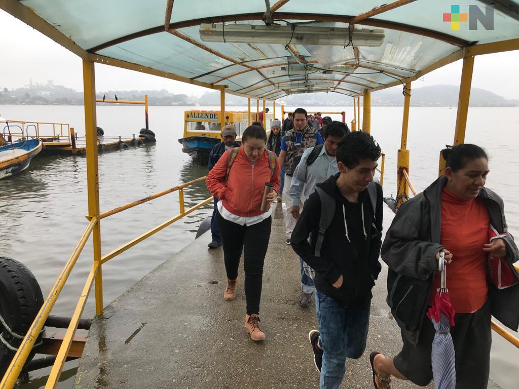 Reabren servicio de transbordador de Coatzacoalcos a Villa Allende