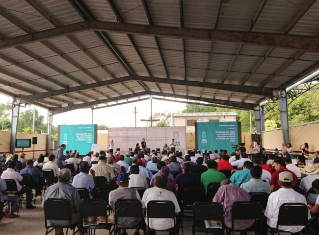 Realizan consulta sobre tren maya en Tabasco, Campeche y Quintana Roo
