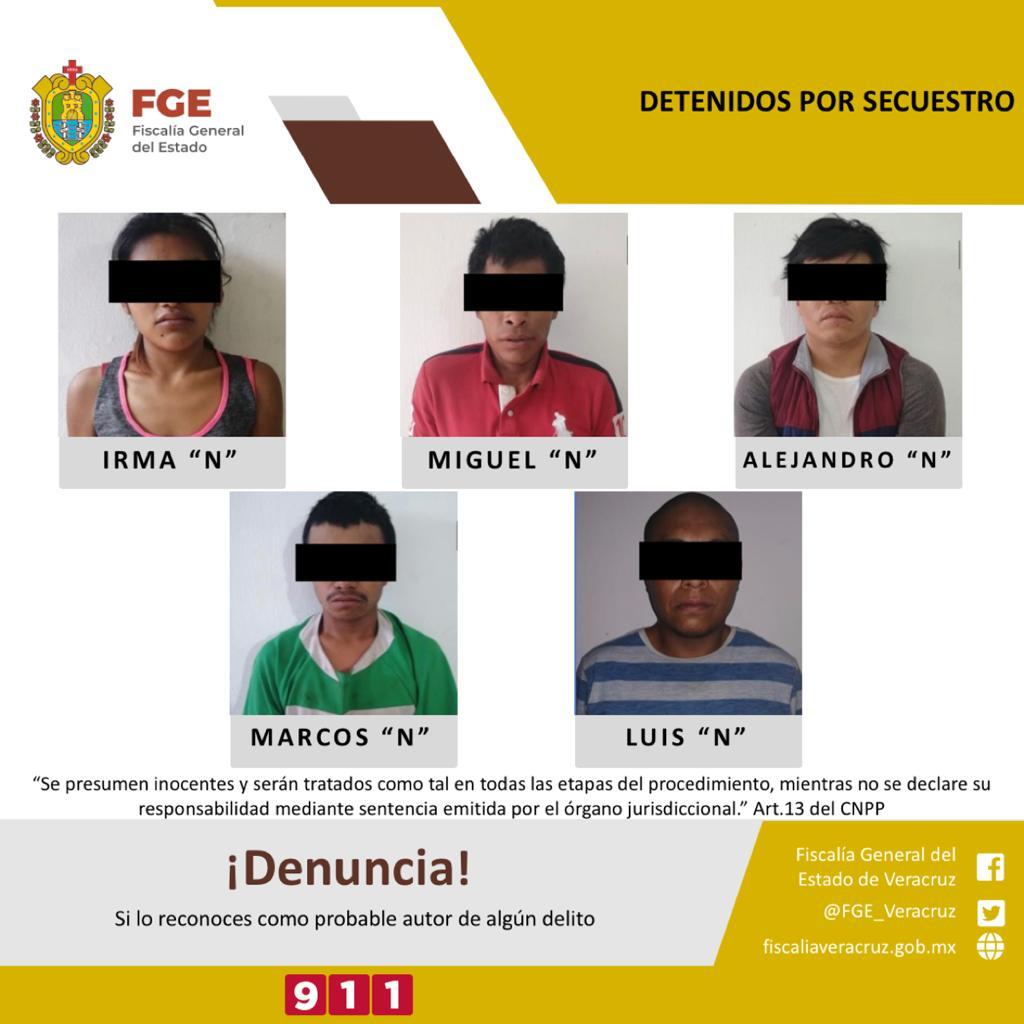 Detiene UECS a cinco personas por secuestro de comerciante