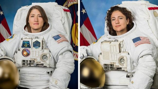 Astronautas Koch y Meir realizan caminata espacial