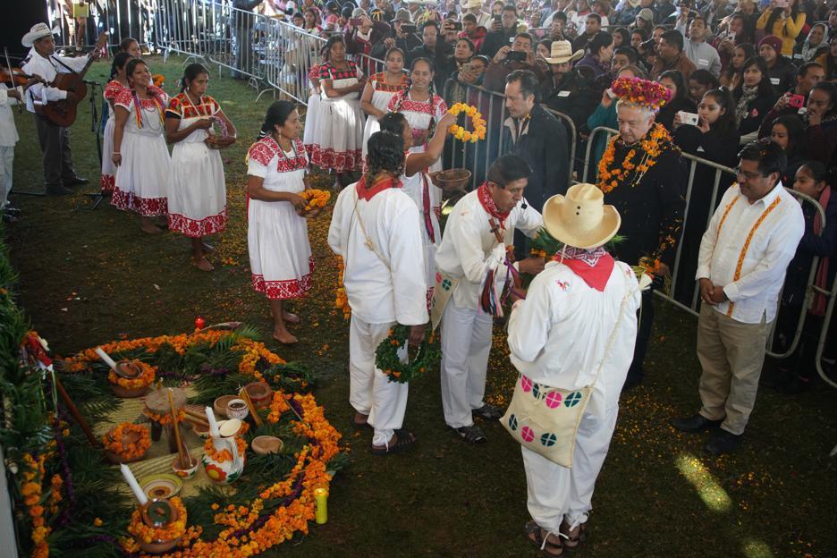 Anuncia el gobernador Cuitláhuac García apoyo de AMLO para pueblos indígenas veracruzanos