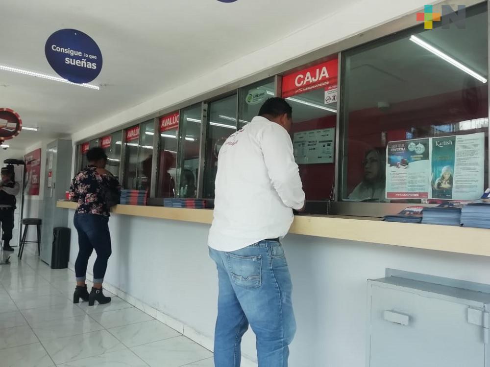 Aumenta presencia de  pignorantes en casas de empeño de Coatzacoalcos