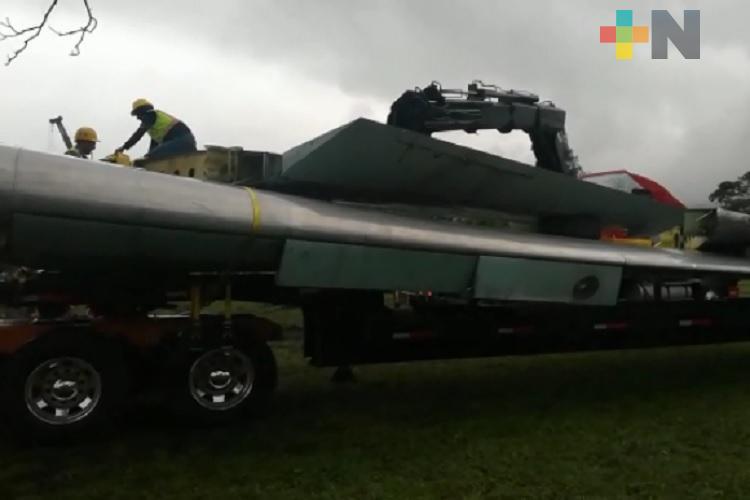 Avión donado por Sedena, se convertirá en museo interactivo de Orizaba