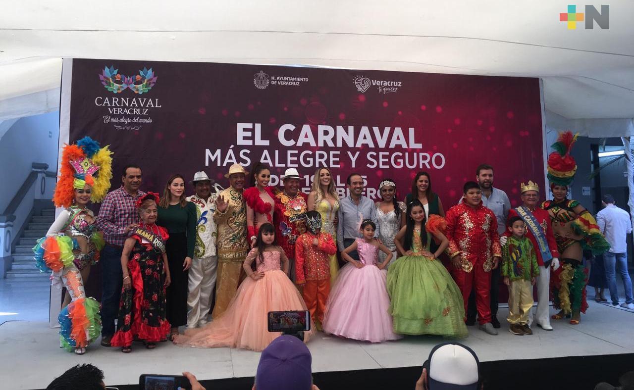 Presentan la Corte Real del Carnaval de Veracruz 2020