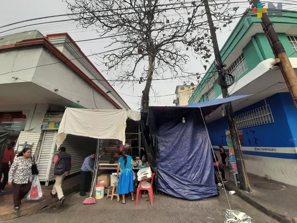 Comerciantes no aceptarán reubicación ofrecido por el autoridades municipales de Veracruz