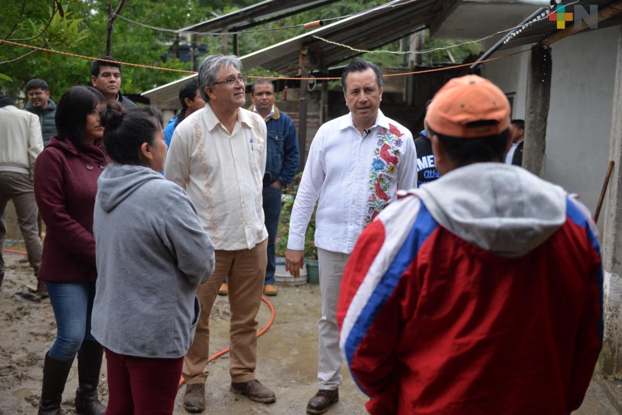 Gobernador Cuitláhuac García supervisa avances de programas sociales