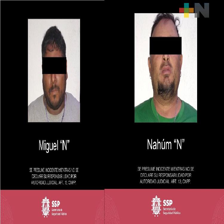 Presuntos jefes de plaza capturados por la SSP, en Tres Valles