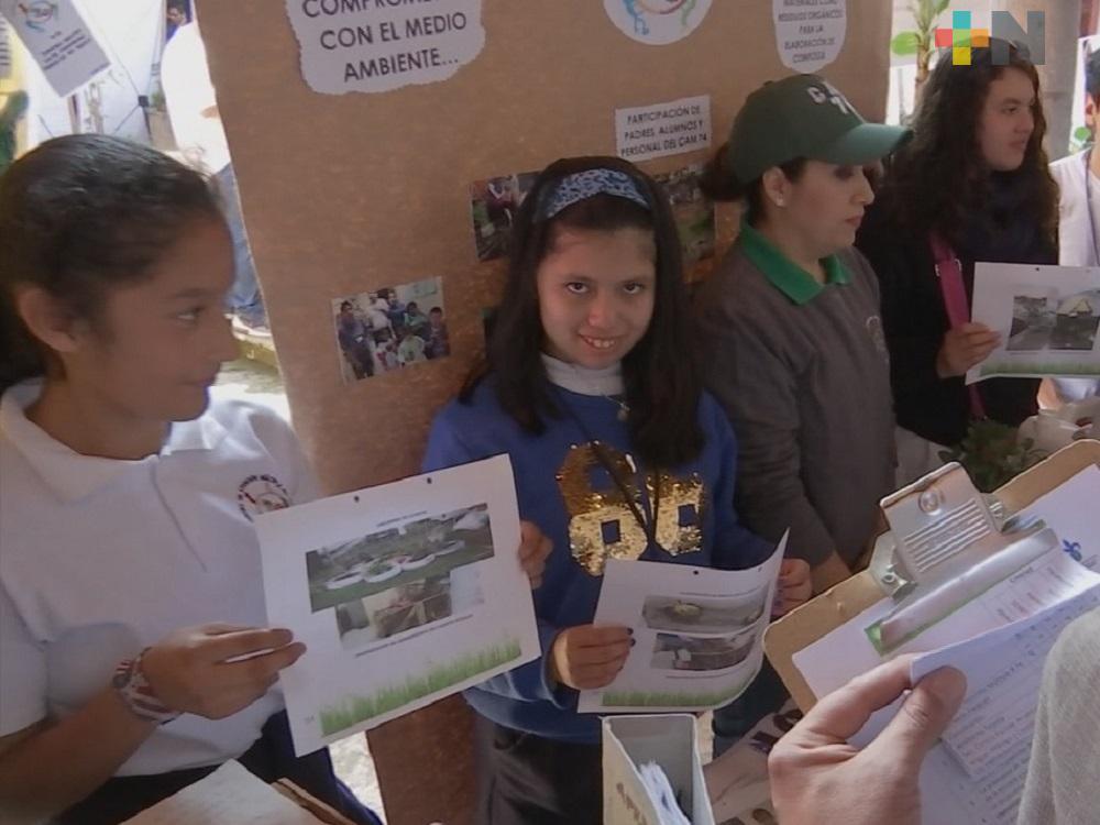 Escuelas de Xalapa presentan proyectos para el cuidado del medio ambiente