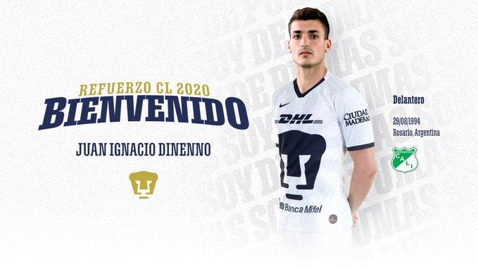 Juan Dinenno, preparado para nuevo reto llamado Pumas