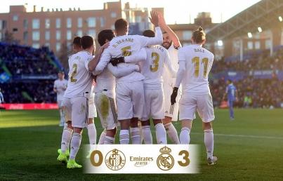 Con gran actuación de Courtois, Real Madrid vence a Getafe