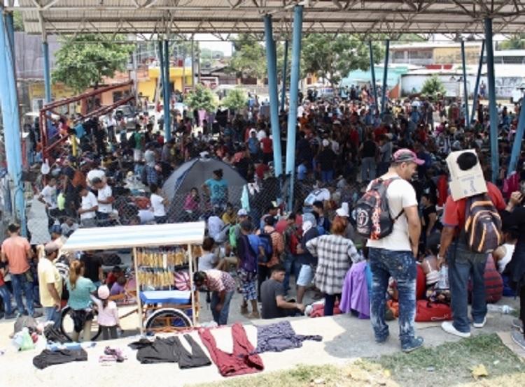 Revisa Migración solicitud de caravana en Chiapas