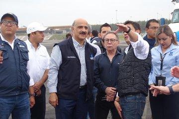 Nueva aduana de Veracruz con avance del 95 por ciento;  Ricardo Ahued supervisó la obra