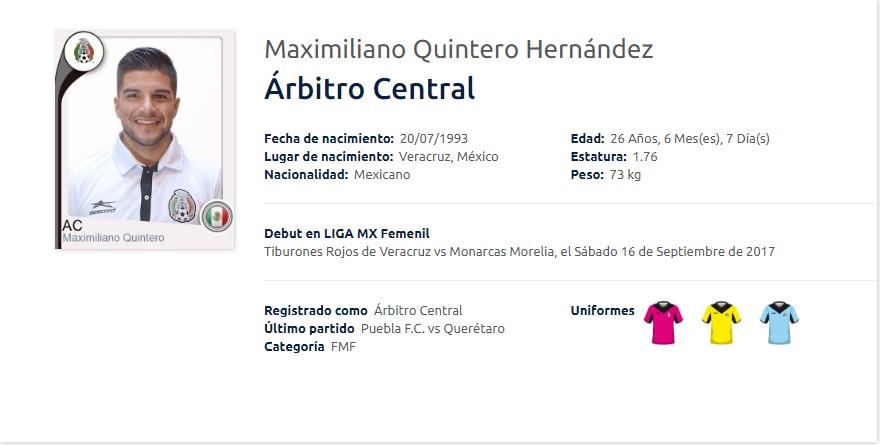 Árbitro naolinqueño debutó en Liga MX