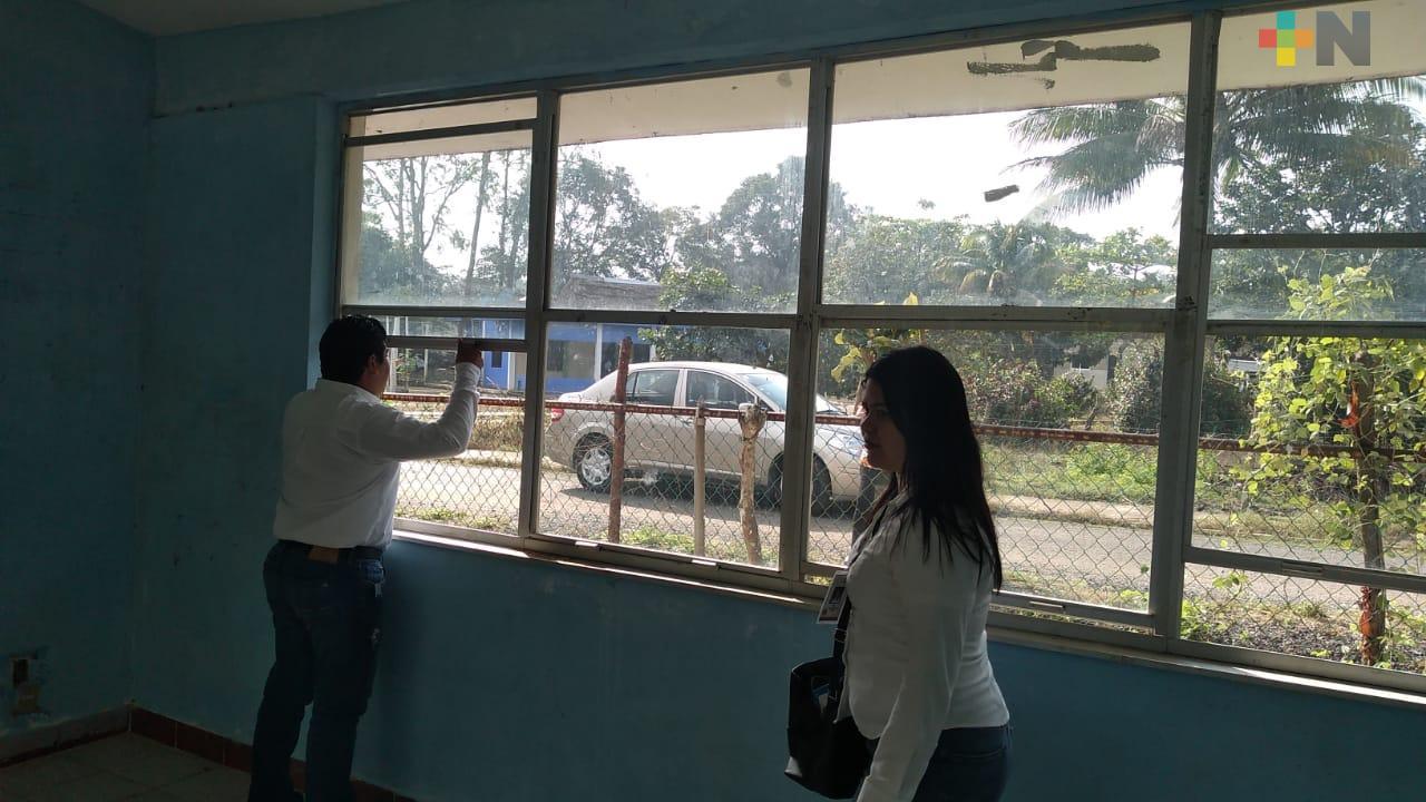 Rehabilitarán escuelas en Ejido La Cangrejera 2 de Coatzacoalcos