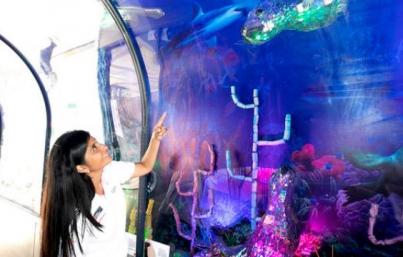 Inauguran en Perú acuario elaborado con material reciclado
