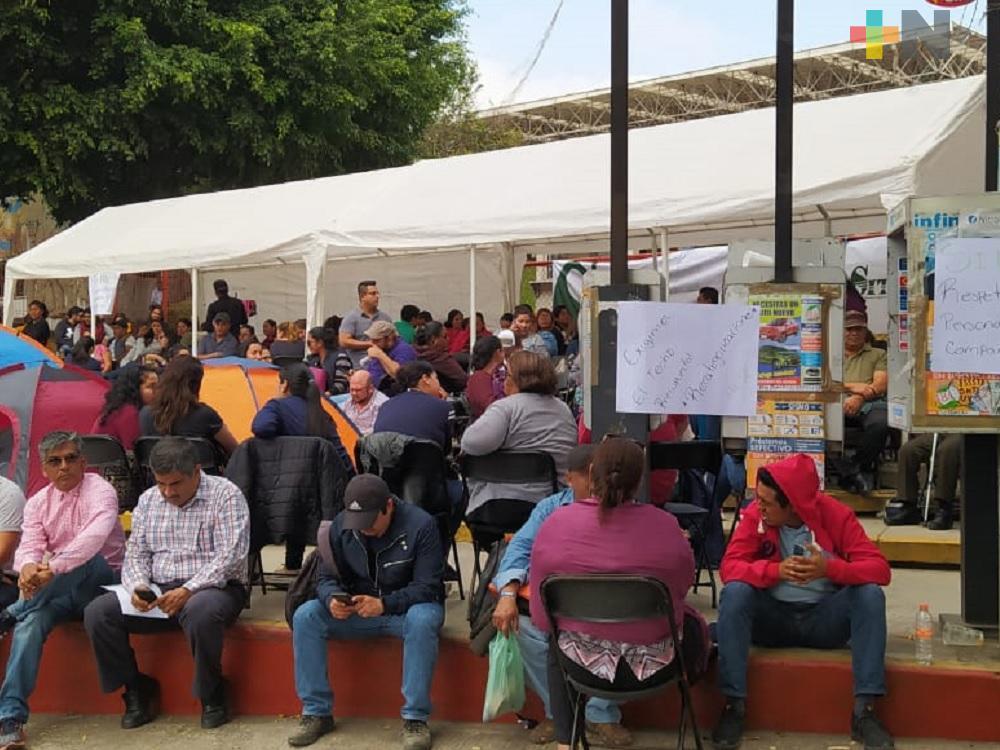 Agremiados al STESE piden se cumpla con minuta que emitió Oficialía Mayor