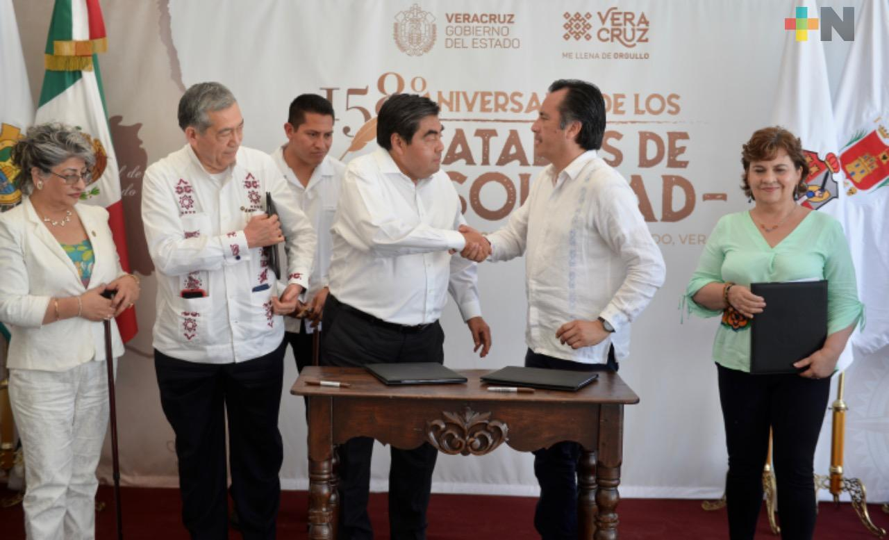 Barbosa llega a Soledad de Doblado para firmar acuerdo con Cuitláhuac