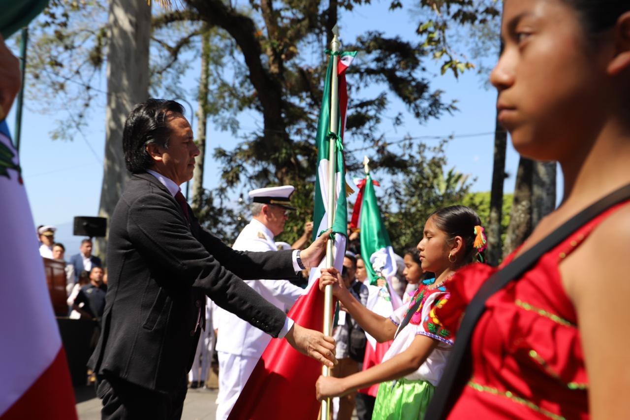 En estos días transformadores, la Bandera de México guarda un sentimiento más profundo: Cuitláhuac García