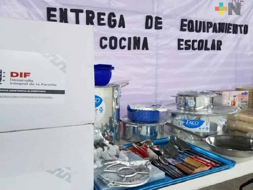 DIF de San Rafael equipa cocinas escolares