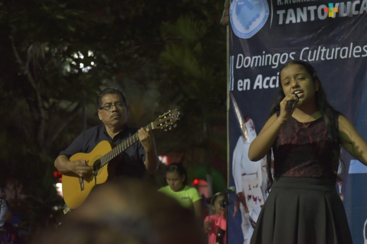 Domingo Cultural fomenta el talento de los jóvenes en Tantoyuca