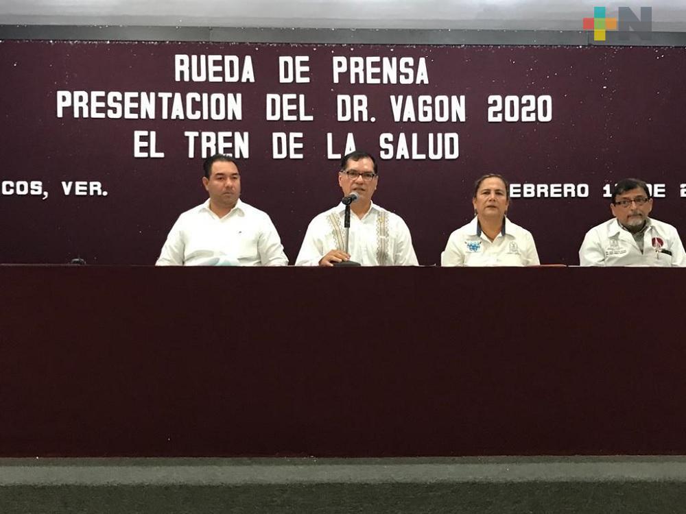 Dr. Vagón espera atender a más de dos mil personas de Coatzacoalcos