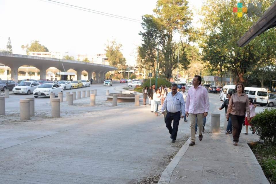 Supervisa Cuitláhuac Circuito Universitario, casi listo para inagurarlo