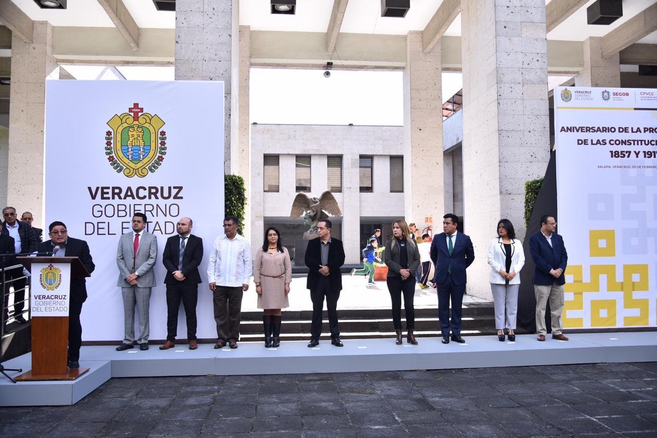 Conmemoran aniversario de la promulgación de las Constituciones de 1857 y 1917