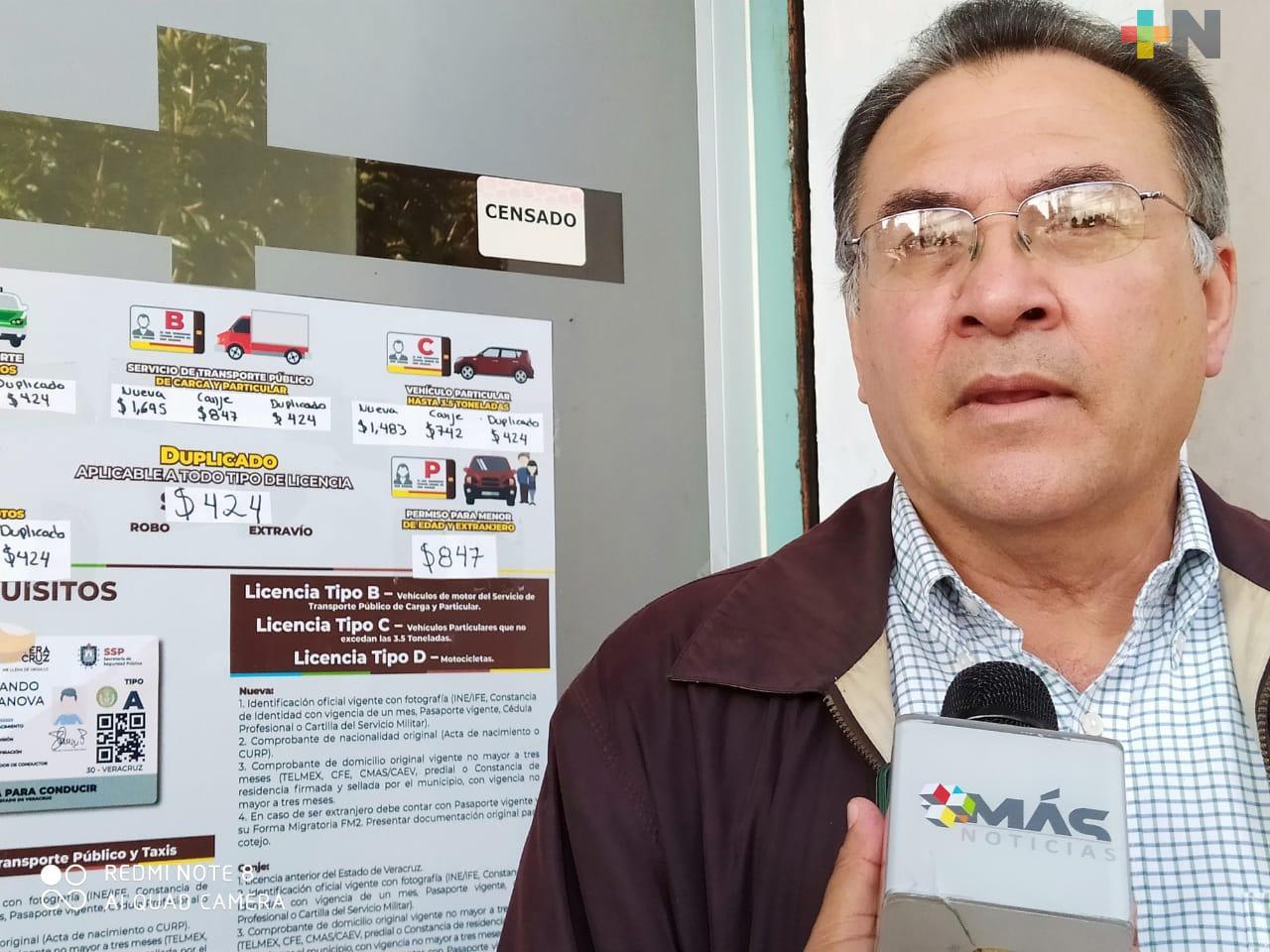 Aumenta el precio de la expedición de licencias para conducir, en Veracruz