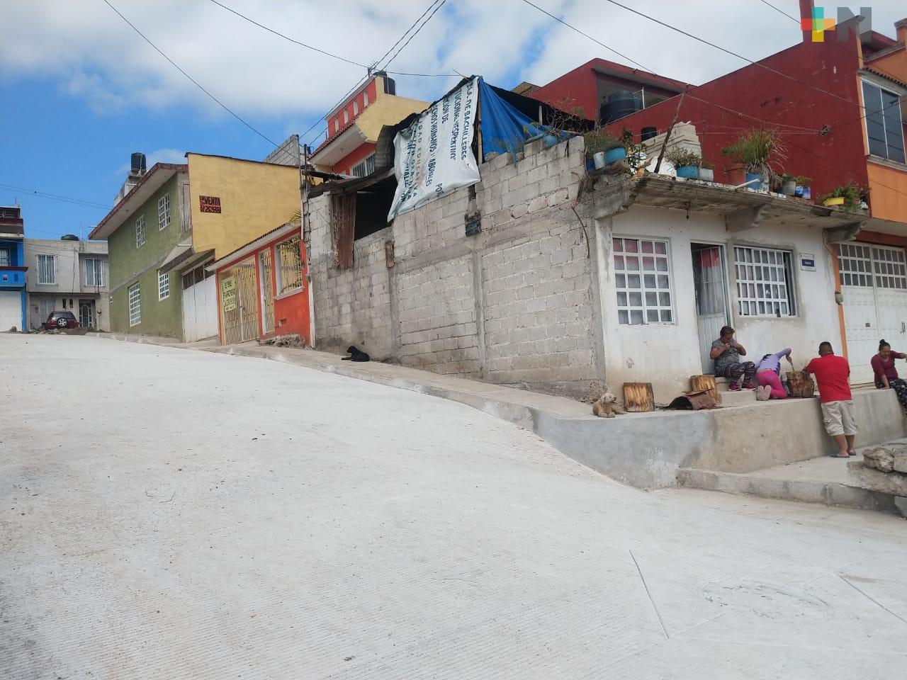 SIOP concluye obra en La Haciendita, vecinos agradecidos con la pavimentación