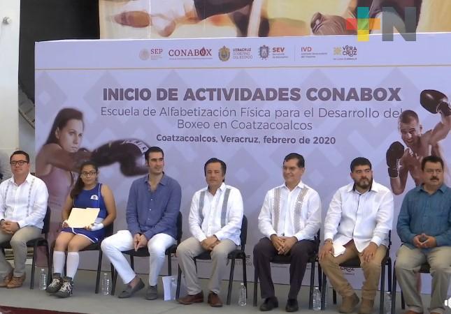 Gobernador de Veracruz inaugura primera Escuela de la Comisión Nacional de Boxeo en Coatzacoalcos
