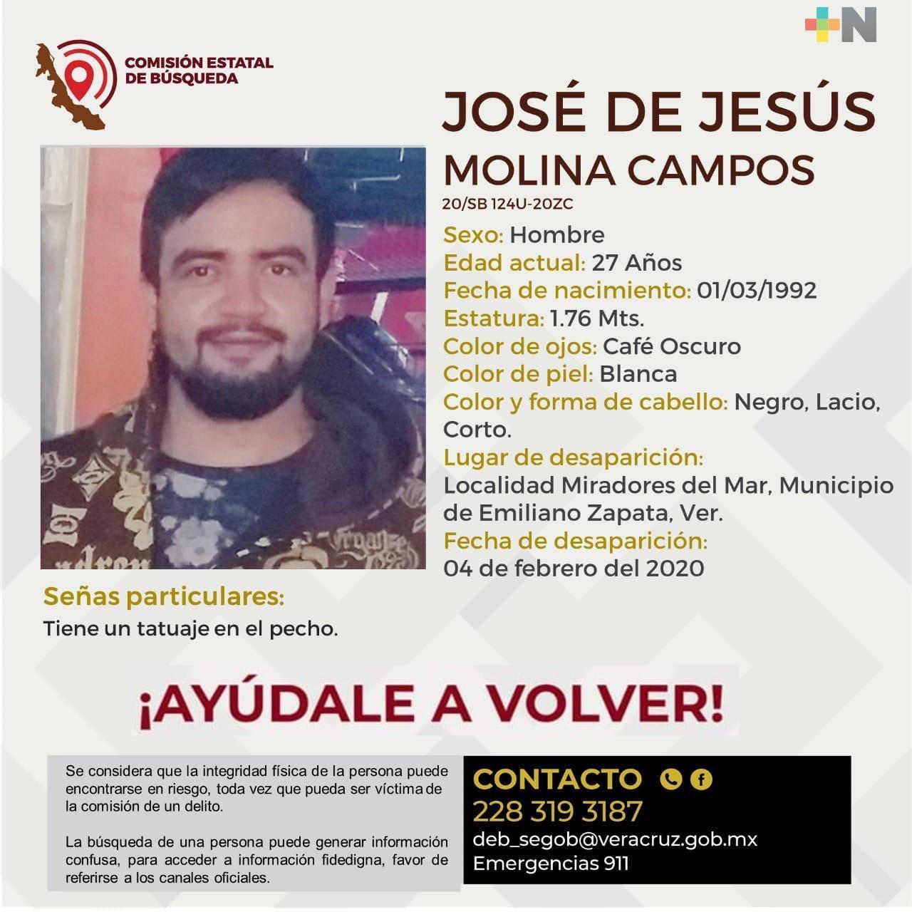 Solicitan apoyo para localizar a joven desaparecido en Miradores