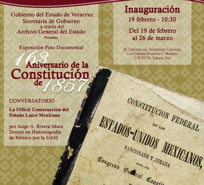Archivo General del Estado albergará la exposición 163 Aniversario de la Constitución de 1857