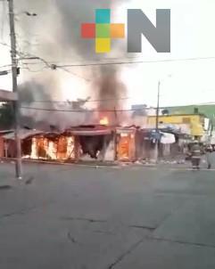 Falso que incendio en locales de Minatitlán fuera provocado por delincuentes