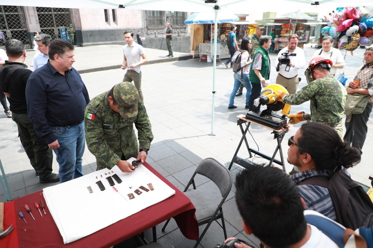 Más de un millón de pesos remunerados durante campaña de Canje de Armas: SSP