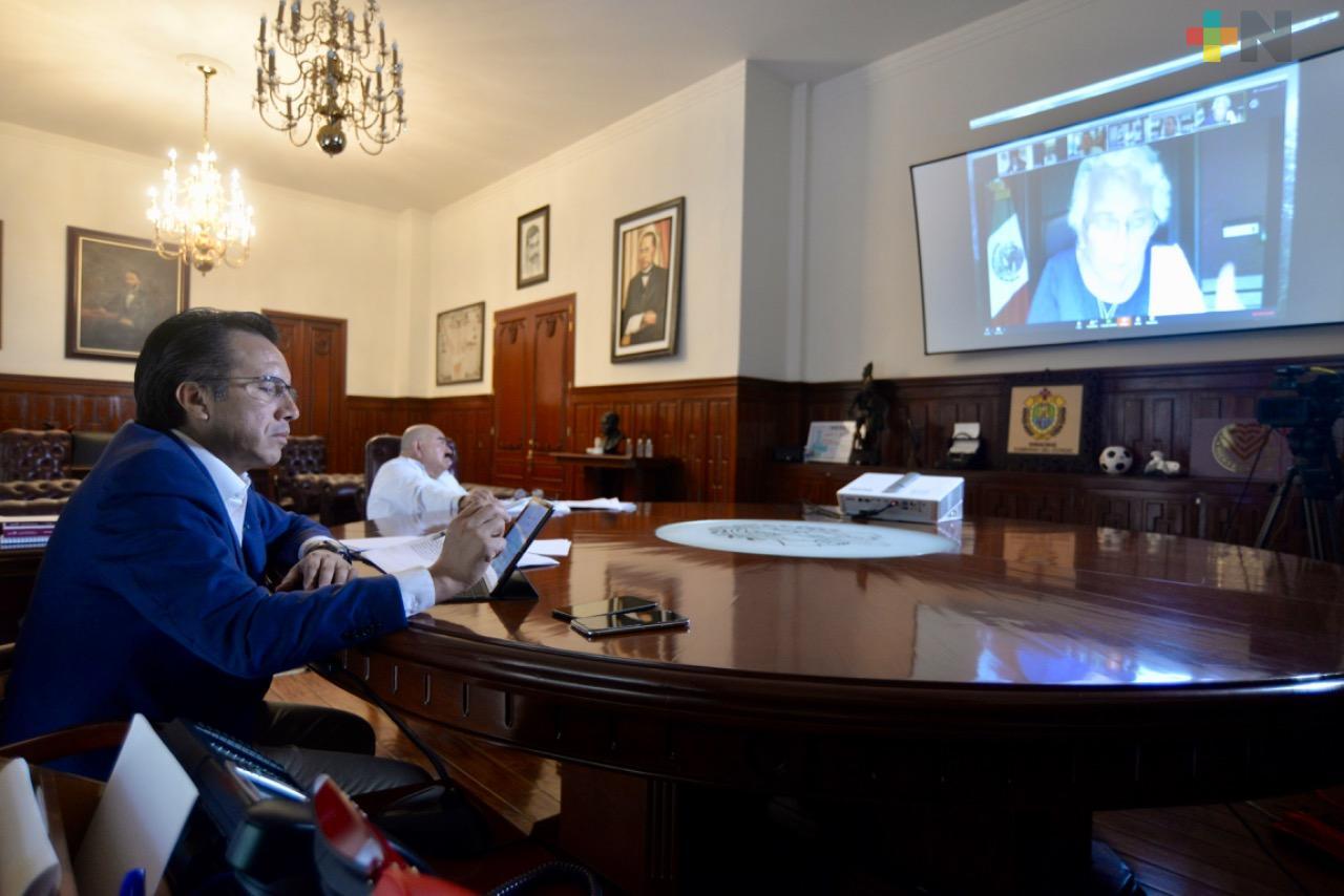 Cuitláhuac García manifiesta apoyo y coordinación ante emergencia sanitaria por el coronavirus