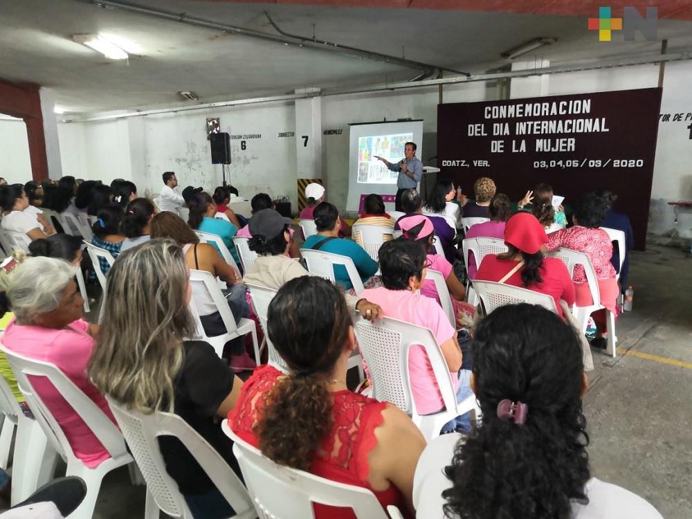 Instituto Municipal de la Mujer en Coatzacoalcos inicia ciclo de conferencias
