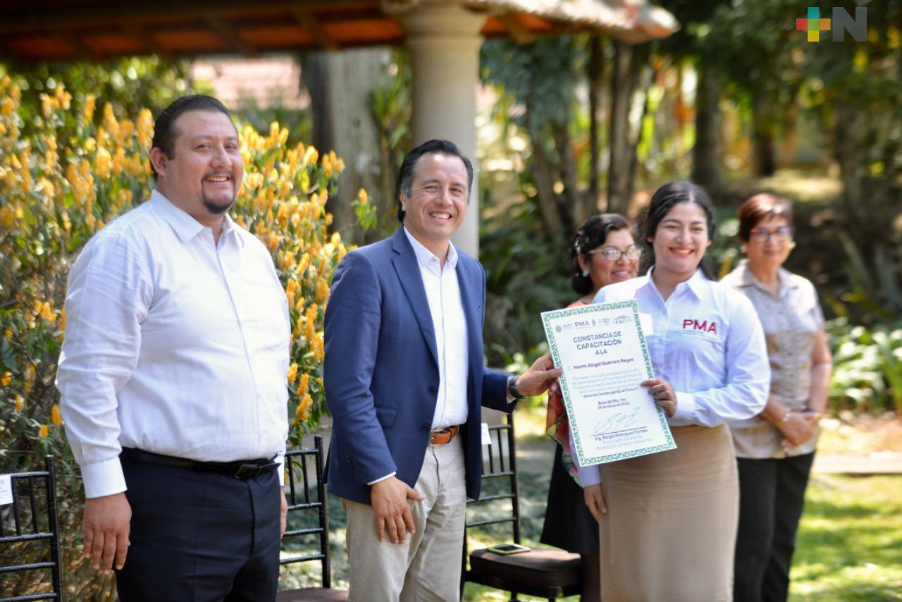 Gobierno de Veracruz refuerza la inspección ambiental con la contratación de Jóvenes Construyendo el Futuro